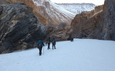 Walking on Chadar