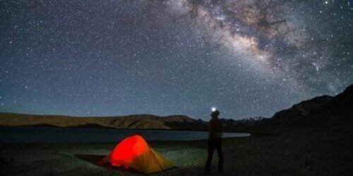 camping under the stars with tents